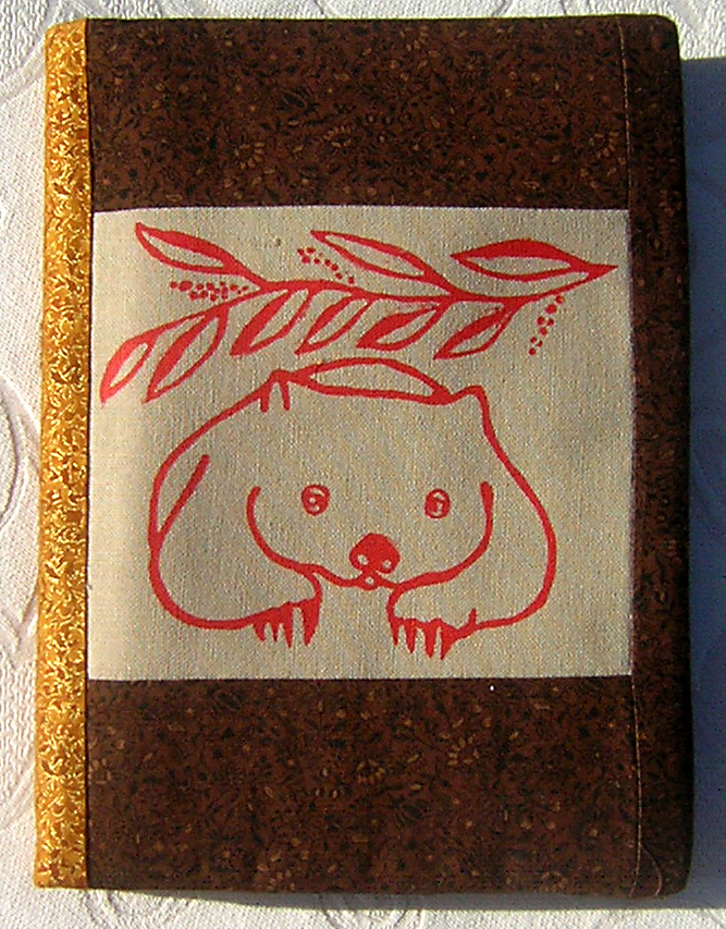 Common Wombat journal cover.