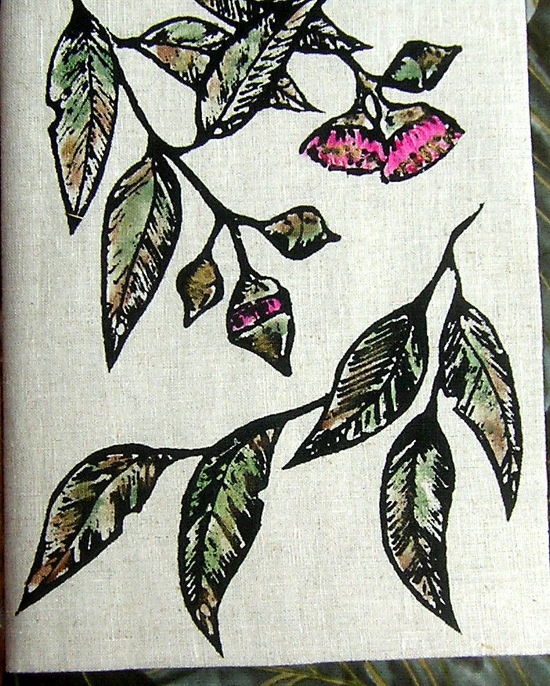 Gum leaves journal cover.