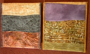 Quilted covers, reverse side