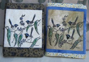 Blue wrens - journal covers