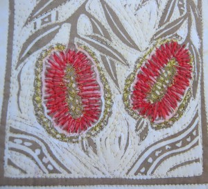 Callistemon lino cut close-up.